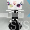 Stojak-obrotowy-z-hakami-kosmetyki-próbki-saszetki